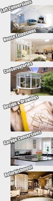 Loft Conversions, House Extensions, Refurbishment, Conservatories,,Design & Drawings Garage Conversions